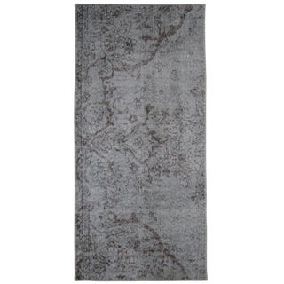 "Grey Overdyed Carpet - 2' x 4'3"""