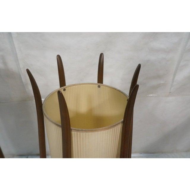 Mid-Century Modeline Walnut Tall Floor Lamps - Image 4 of 7