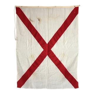 "Vintage Nautical Flag Signal ""V"""