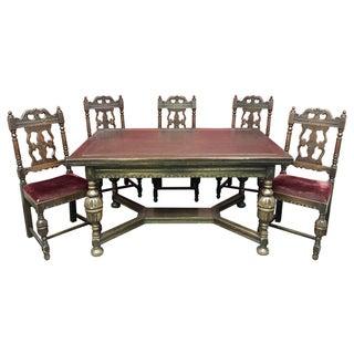 Antique 1920s Gothic Dining Set