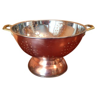 Vintage Distressed Copper Colander