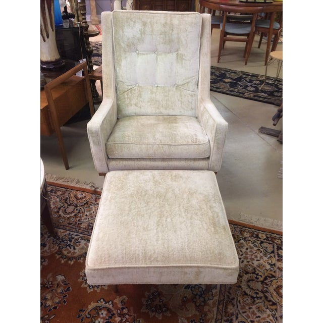 Milo Baughman Club Chairs & Ottoman - A Pair - Image 2 of 8