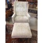 Image of Milo Baughman Club Chairs & Ottoman - A Pair