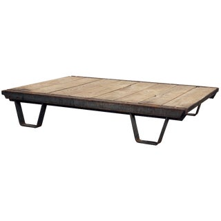 1930s Industrial Pallet & Iron Coffee Table