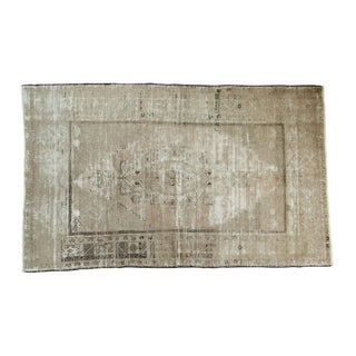 "Vintage Distressed Oushak Carpet - 4'9"" x 7'8"""