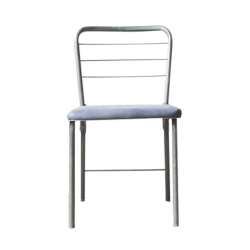 Metal & Waxed Canvas Side Chair - Image 1 of 8