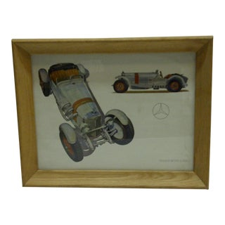 "Vintage ""Mercedes"" Road & Track Print"