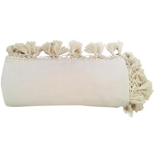"Oaxaca Oversize Cotton 108"" Blanket in Cream"