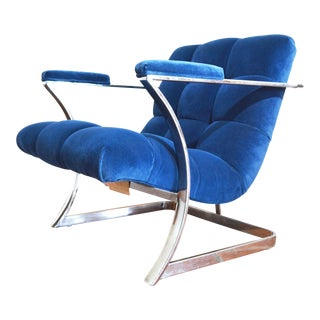 Mid Century Lounge Chrome Floating Chair