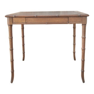 Vintage Faux Bamboo Game Table