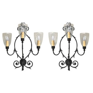 Murray's Iron Works Belvedere Wall Sconces - A Pair