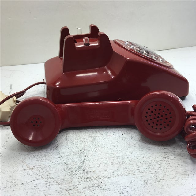 Western Electric Red Rotary Dial Telephone - Image 6 of 11