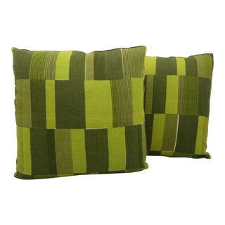 Mid-Century Abstract Pillows- A Pair