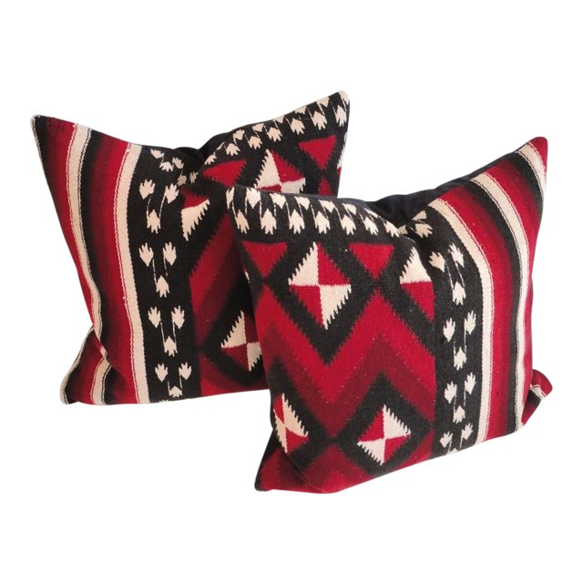 Fantastic Early Geometric Indian Weaving Pillows - Image 1 of 4