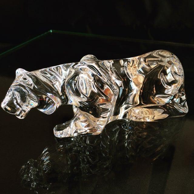 Vintage Baccarat Crouching Crystal Tiger - Image 2 of 7