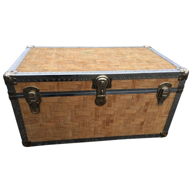 Lightly Cerused Rattan Trunk Coffee Table Chairish