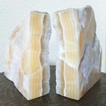 Image of Vintage Natural Stone Bookends- A Pair