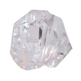 Clear Acrylic Faceted Sculpture