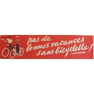 1950s Vintage Bicycle Poster, Pas de bonne vacances sans bicyclette!