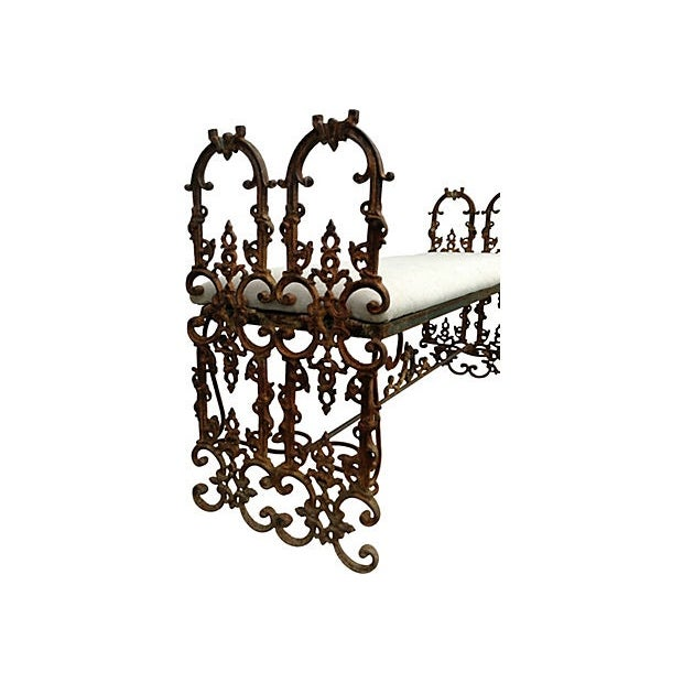 Hand-Forged Iron Bench - Image 3 of 6