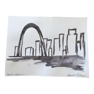 Saint Louis Original Ink Painting