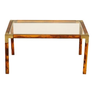 French Faux Tortoise Shell Coffee Table