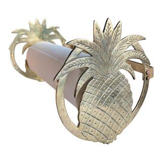 Vintage Brass Pineapple Paper Towel Holder