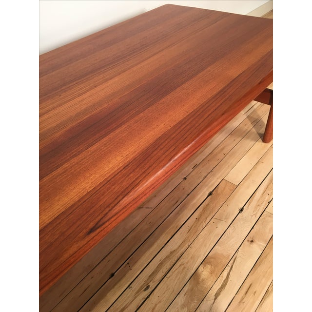 Solid Teak Danish Modern Coffee Table - Image 3 of 6