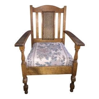 Antique Oak Mission Style Chair