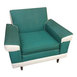 Mid-Century Vinyl Lounge Chair