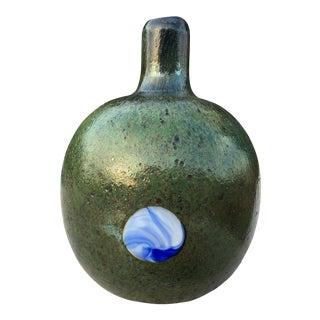 Oiva Toikka Nuutajarvi Signed Art Glass Vase