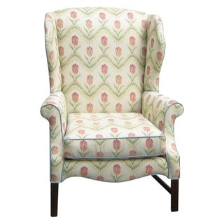 Updated Wing Chair in Kravet Floral