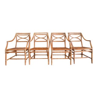 McGuire Rattan Chairs - Set of 4