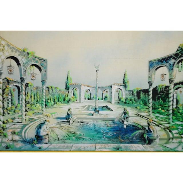 Vintage Signed Illuminated Giclee Painting on Panel - Image 3 of 9