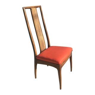 John Stuart Walnut and Cane Chairs - Set of 6