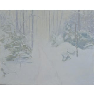 "Stephen Remick ""Path in a Blizzard"" Painting"
