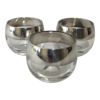 Dorothy Thorpe Silver Roly Poly Glasses - Set of 3