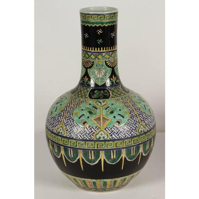 Pair of Famile Verte Art Deco Vases - Image 2 of 10