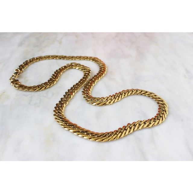 Image of 70s Gold Flat Chain Necklace