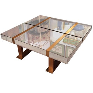 Duet Antique Mirrored And Brass Coffee Tables