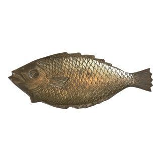 Solid Brass Fish Dish