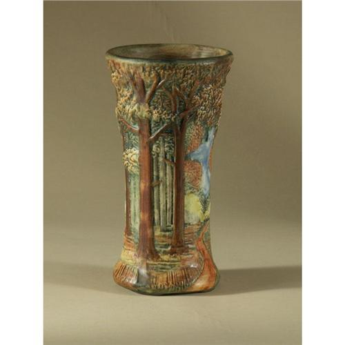 Antique Weller Woodland Forest Vase - Image 3 of 3