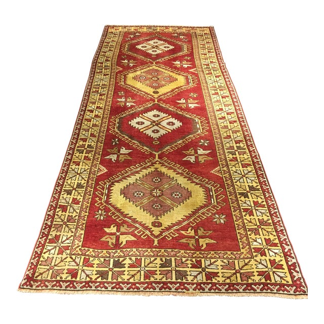 "Bellwether Rugs Vintage Turkish Oushak Runner - 5'x11'3"" - Image 1 of 8"