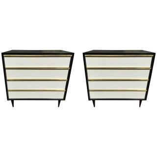 Italian Modern Lacquered Chests/Nightstands - Pair