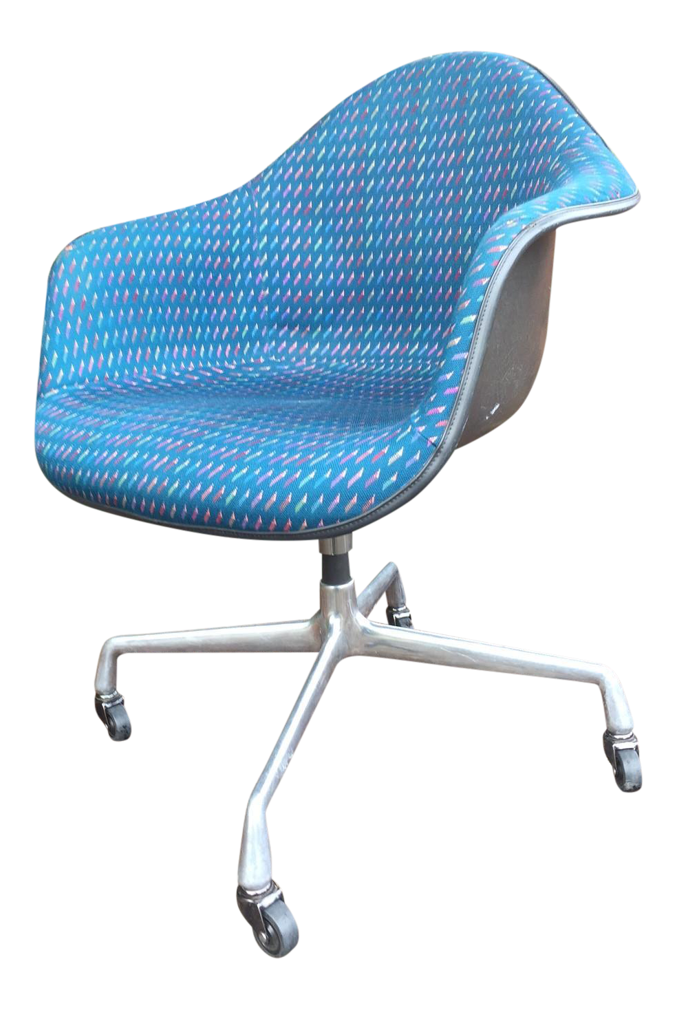 vintage & used blue office chairs | chairish