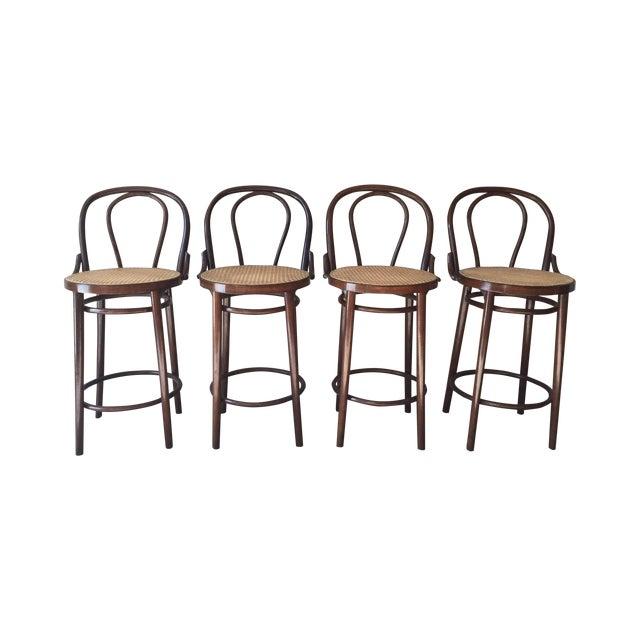 Thonet Style Bentwood Bar Stools - Set of 4 - Image 1 of 11