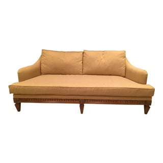 Jeffco Neoclassical Gold Sofa