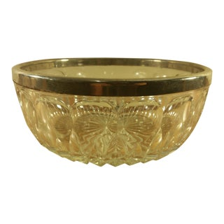 Vintage Silver Rimmed Glass Bowl
