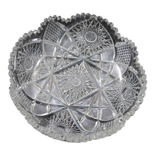 Abp Cut Glass Low Bowl