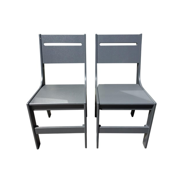 Loll Designs Cricket Gray Outdoor Chairs - A Pair - Image 1 of 3